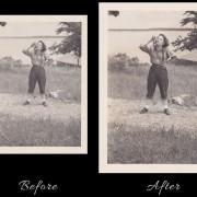 Snake Charmer Photo Restoration